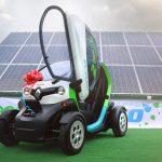 La Târgu Mureș circulă o mașină electrică alimentată de la panouri solare